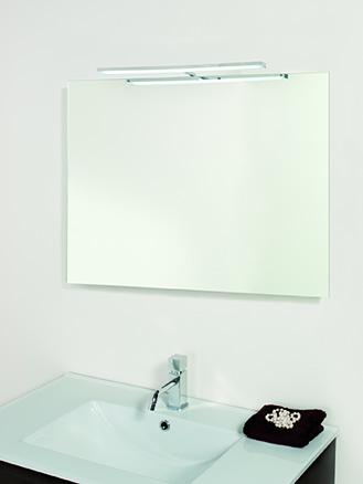 Espejo liso 80x90 cm. + Aplique 45 cm (led 4,8W)