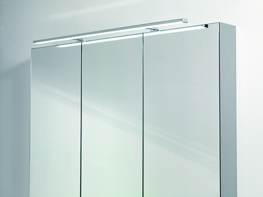 Espejo camerino vela 100 cm. + Aplique Lineal 80 cm (led 9,6W)