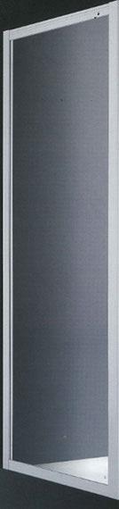 Mampara fija baño Art aluminio blanco 70 cm. puerta cristal transparente 6 mm segurizado