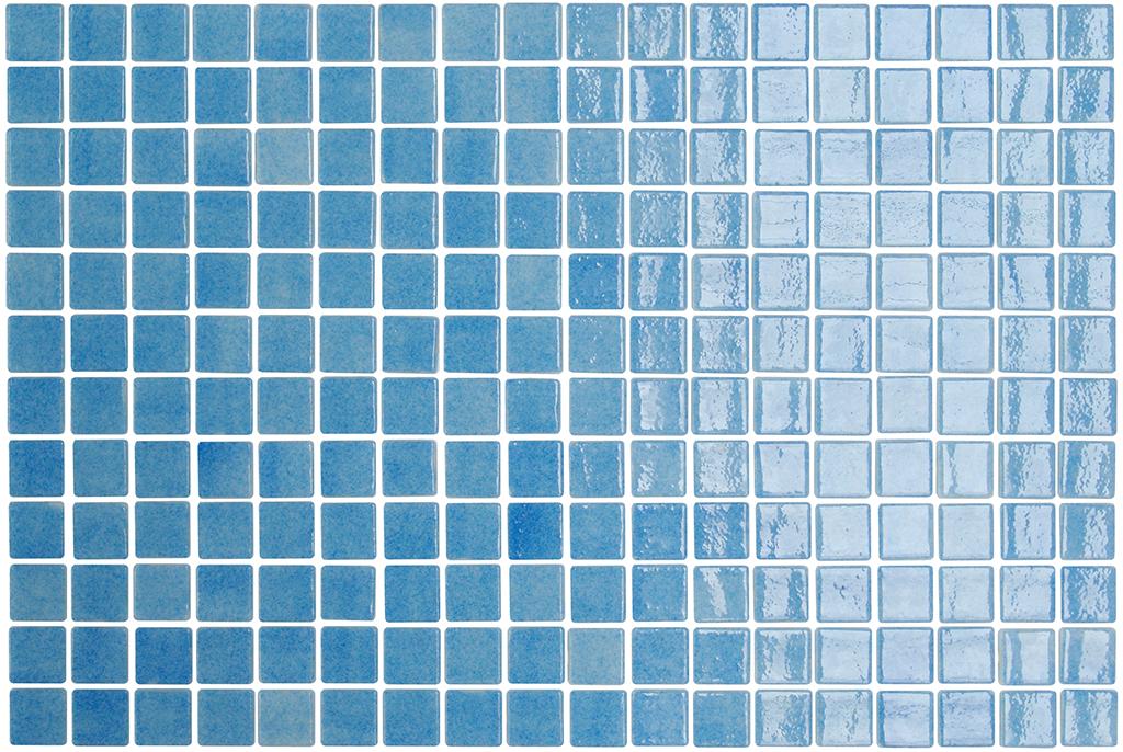 Mosaico Onix nieve 25x25 mm. 25251 azul celeste Onix