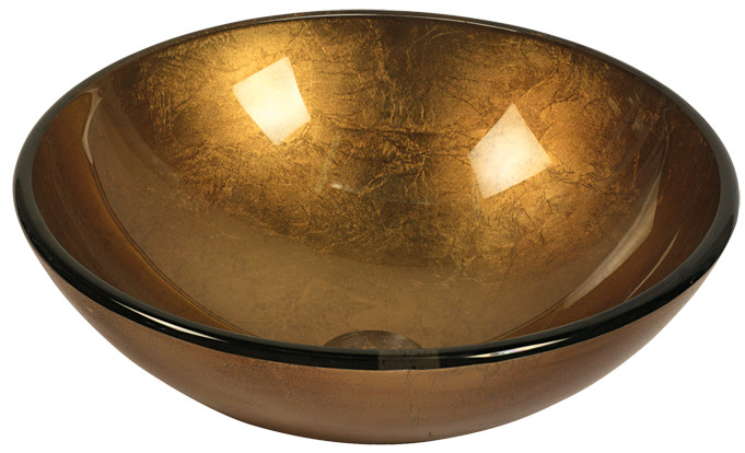 Lavabo de Cristal Bowl Brown KL70 Dekostock