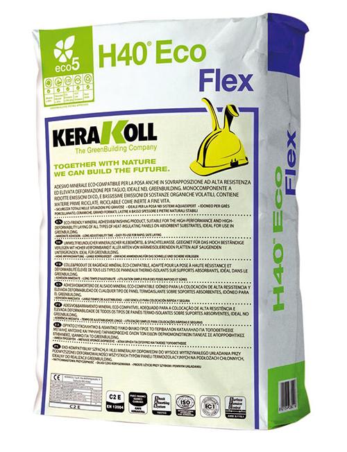 Cemento Cola mejorado Kerakoll H40 ECO FLEX Kerakoll