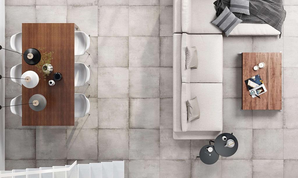 MITTE colección de pavimento porcelánico rectificado y revestimiento Peronda