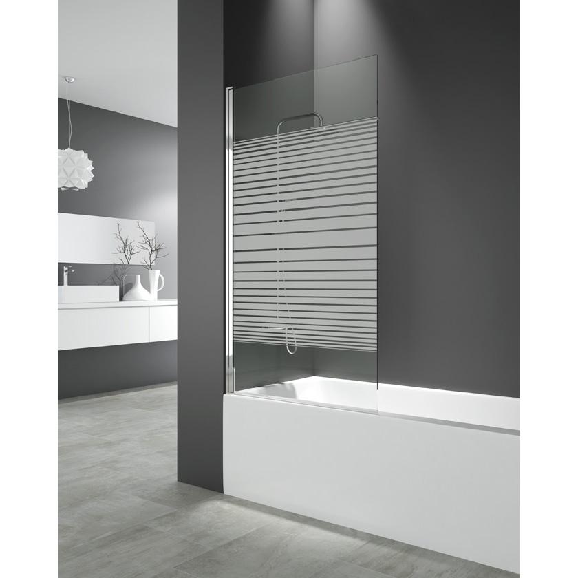 Cristal abatible bañera 150x85 cm trazos Segurizado GME