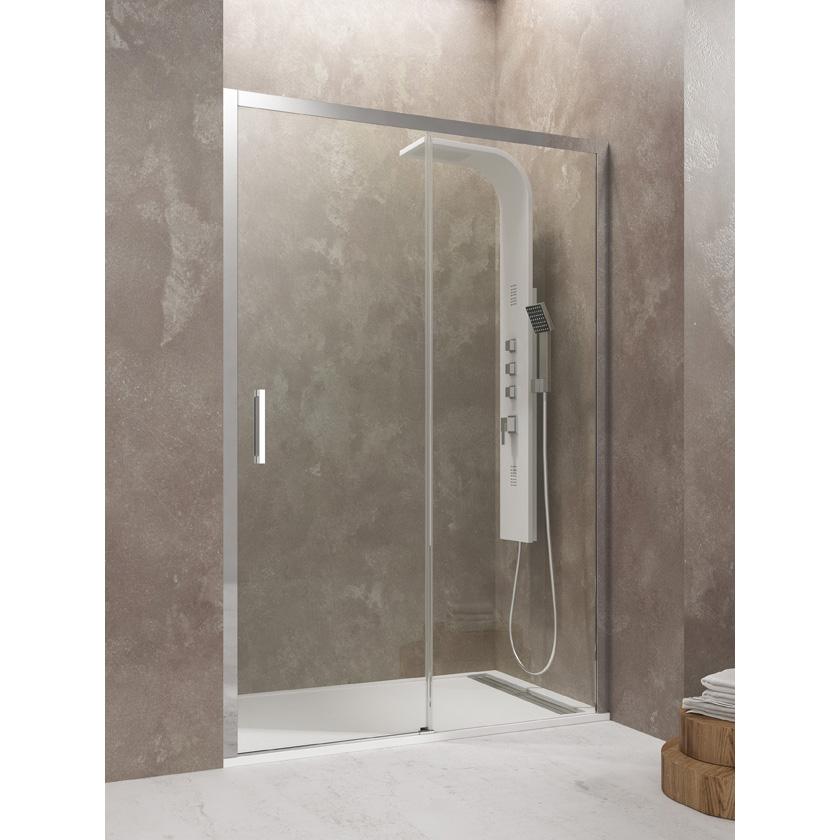 Mampara de ducha AKTUAL 1 fijo 1 corredera Segurizado GME