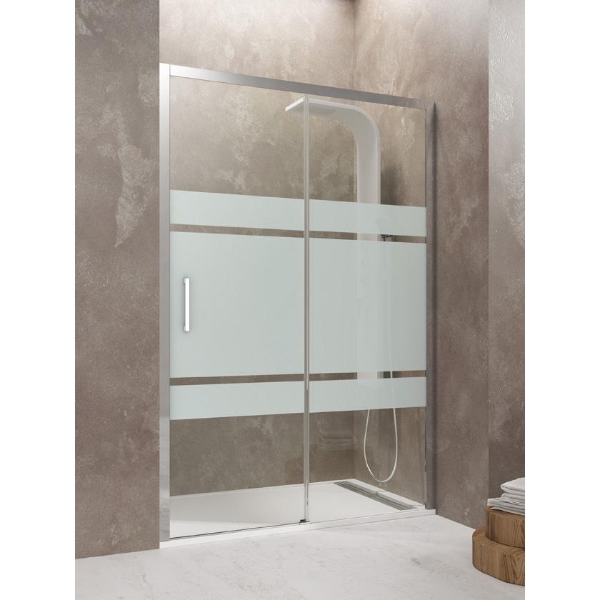 Mampara de ducha AKTUAL 1 fijo 1 corredera Frost Segurizada GME