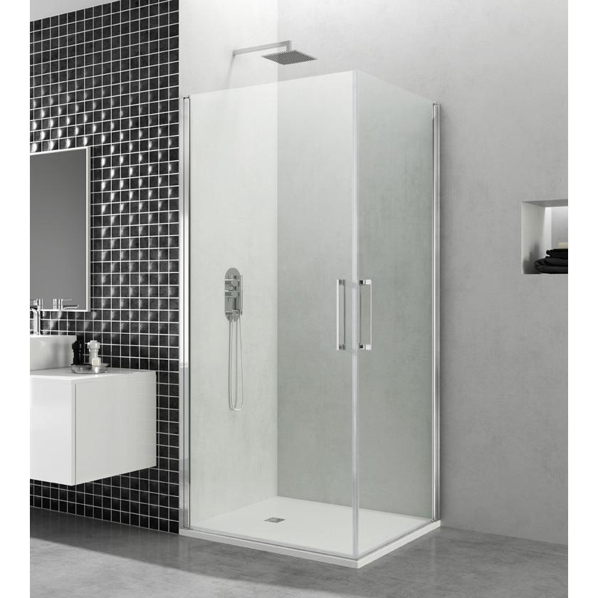 Mampara de ducha Open angulo 2 puertas cristal Segurizado GME