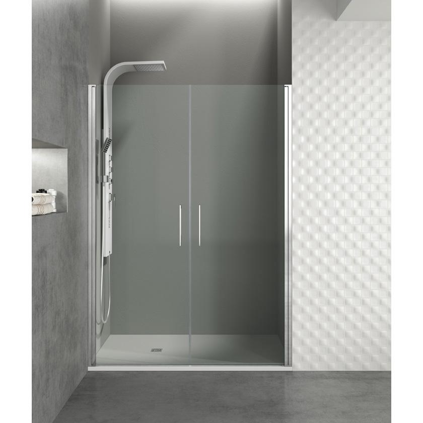Mampara de ducha Open 2 puertas abatibles 180º cristal Segurizado GME