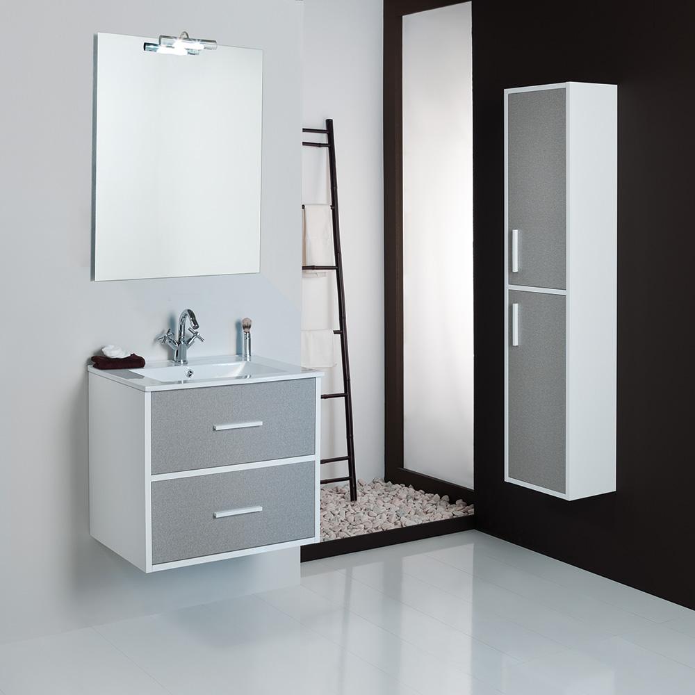 Mueble de baño Coimbra Tex blanco  80 cm.